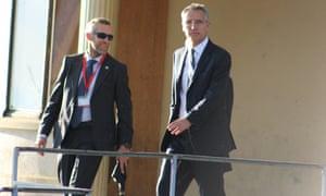 The secretary general of Nato, Jens Stoltenberg, right.