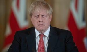 Boris Johnson at a coronavirus news conference earlier this month.