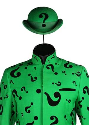 The Riddler's (Jim Carrey) costume from Joel Schumacher's superhero sequel Batman Forever. Estimate: £10,000 - £15,000