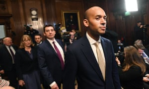 Chuka Umunna (right) with his Independent Group colleagues.