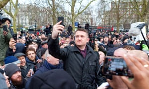 Tommy Robinson at Speakers' Corner on 18 March