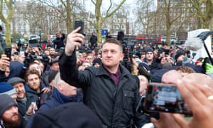 Stephen Yaxley-Lennon, also known as Tommy Robinson, at Speakers' Corner, London in March.