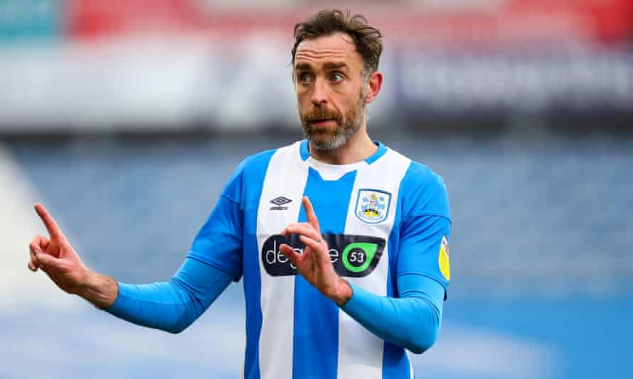 Richard Keogh, pictured playing for Huddersfield Town in February.