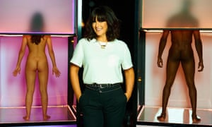 Anna Richardson on set of Naked Attraction.