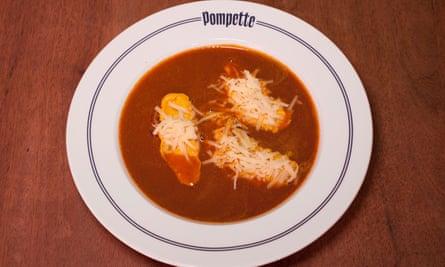 'The colour of copper pans': fish soup.