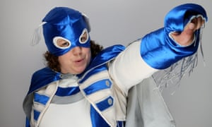 Jessica Thom, the co-founder of Touretteshero, in her guise as 'the world's first fully-fledged Tourette's superhero'