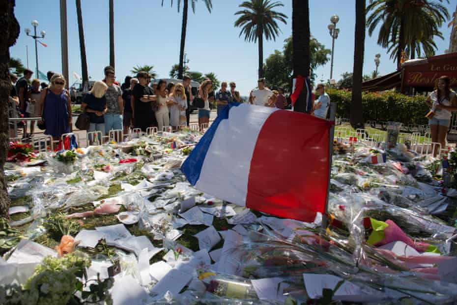 A tribute to the victims of last week's Bastille Day attack in Nice