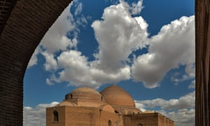 Blue Mosque or Masjidi Qebud Mosque in Tabriz, Iran