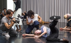 Performance anxiety … Pierre Tappon, Miguel Altunaga and Daniel Davidson rehearsing Goat.