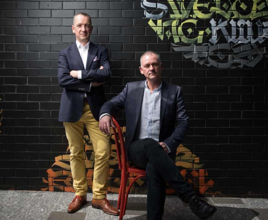 Adrian Jones and Graham Ross, the founders of BlockTexx, which is seeking to recycle 10,000 tonnes of fabrics a year at its first facility