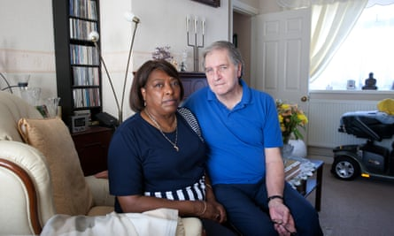 Valerie Baker with her husband Tony at their home in Grimsby.