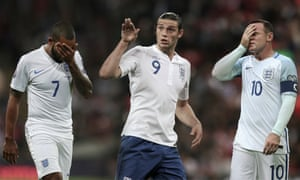 Theo Walcott, left, Andy Carroll and Wayne Rooney: : key to England's World Cup hopes under Sam Allardyce.