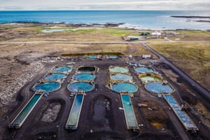 A land-based aquaculture plant operated by the innovative start-up Matorka, in Grindavik