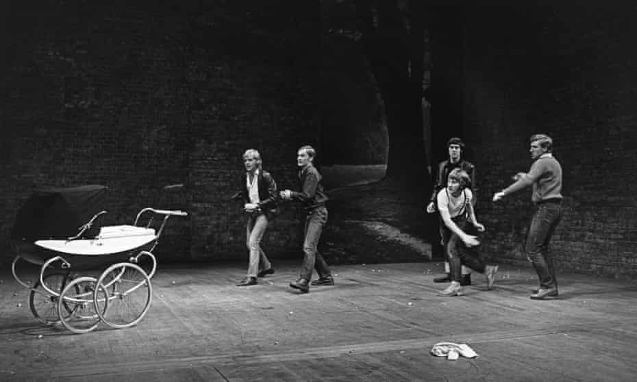 The infamous stoning scene in Saved, at the Royal Court in 1969.