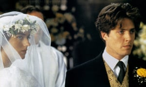 Anna Chancellor and Hugh Grant in Four Weddings and a Funeral.