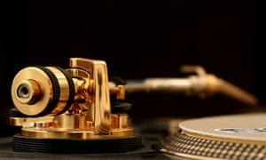 A gold plated Technics SL-1200 turntable