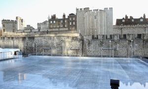 The Tower Of London ice rink, closed due to mild weather