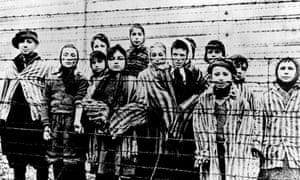 A group of children at Auschwitz, just after liberation by the Soviet army