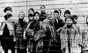 Children found at Auschwitz after the liberation of the camp in 1945.