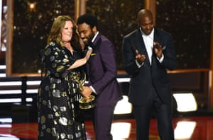 Melissa McCarthy, Donald Glover and Dave Chappelle.