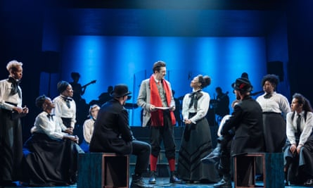 Stands on its own two feet … Beverley Knight (Emmeline Pankhurst) and John Dagleish (Keir Hardie) and company in Sylvia.