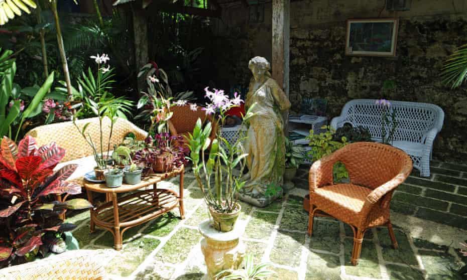 Peace and quiet: a corner of Hunte's Gardens in Barbados.