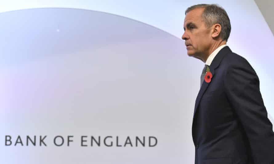 The Bank of England governor Mark Carney