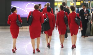 Virgin Atlantic's female cabin crew are now allowed to wear trousers and go without makeup.