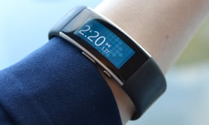 microsoft band 2 fits under a shirt cuff isnt sweaty and doesn