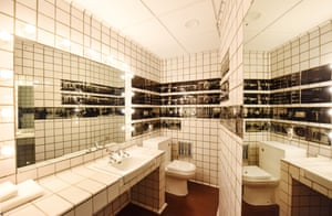 The bathroom is used to display images from the Hayward Gallery.