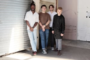 'I think the album is funny, definitely' ... Black Midi frontman Geordie Greep (far right).