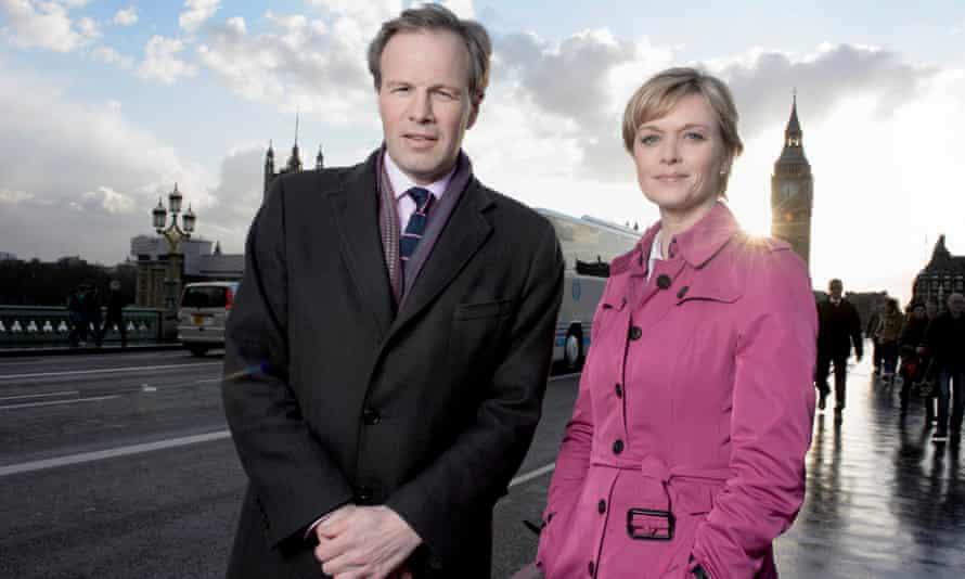Tom Bradby and Julie Etchingham on ITV News.