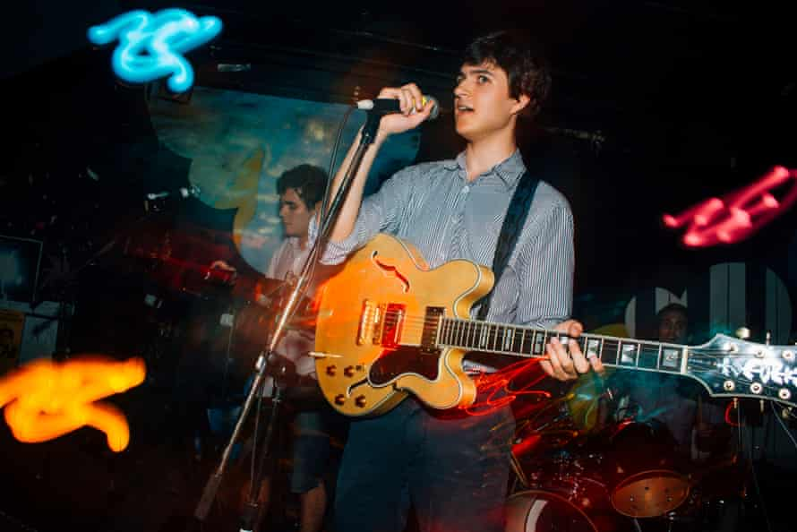An early show by Vampire Weekend.