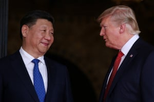 Chinese president Xi Jinping and president Donald Trump.