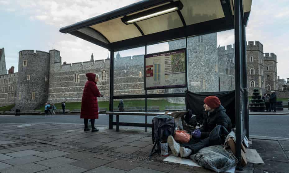 Stuart, 40, is from Windsor and has been living on the streets for the past four months