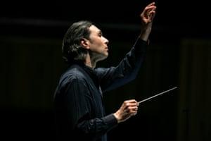 Vladimir Jurowski conducting the London Philharmonic Orchestra in Die Walküre at the Royal Festival Hall, 27 January 2019.