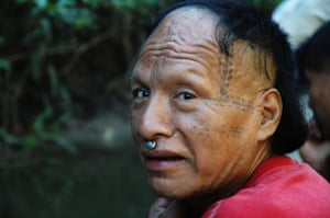 """""""Epa"""", a Mastanahua man in Purus who entered into contact with outsiders over 10 years ago. Only four people in Epa's group made contact - the rest continue living in """"isolation."""""""