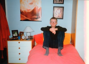 Matt Cain in his teenage bedroom