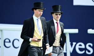 Aidan, right, and son Joseph O'Brien walking the track at Epsom.
