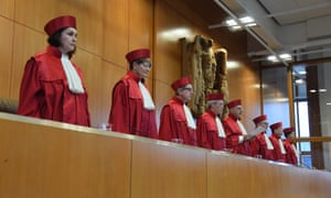 Judges of the German constitutional court in Karlsruhe.