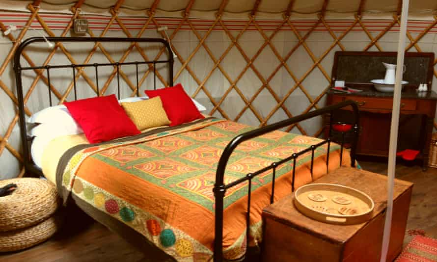 Yurt interior, Swallowtails, Holt, Norfolk