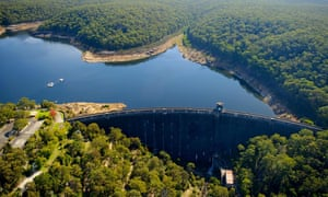 Woronora reservoir, which supplies parts of southern Sydney and the northern Illawarra.