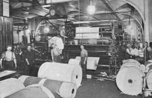 Printing the Daily Telegraph newspaper, circa 1900