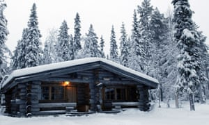 Hotel log cabins, Yllas, Lapland.A36MAH Hotel log cabins, Yllas, Lapland.