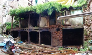 A house in Patan that has been left untouched since the April 2015 earthquake.