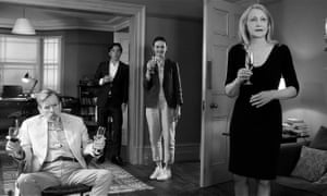 'A shaggy dog story with a cannibalistic bite': (l-r) Timothy Spall, Cillian Murphy, Emily Mortimer and Patricia Clarkson in Sally Potter's The Party.