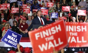 Donald Trump restated his vow to build a border wall at a rally in El Paso, Texas, on Monday night.