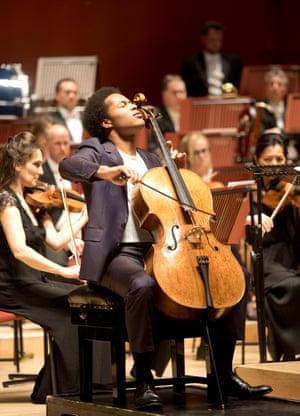 Sheku Kanneh-Mason performs Elgar's Cello Concerto at the Anvil, Basingstoke.