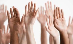 Raised Hands.
