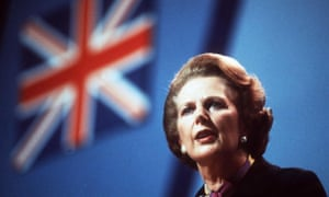 Margaret Thatcher at the Conservative party conference in October 1982, a month before Channel 4's launch